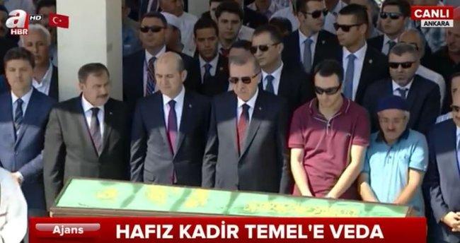 Cumhurbaşkanı Erdoğan Hafız Kadir Temel'in cenaze törenine katıldı