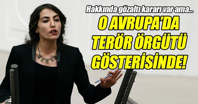 HDP'li vekil Belçika'da terör örgütü gösterisine katıldı!