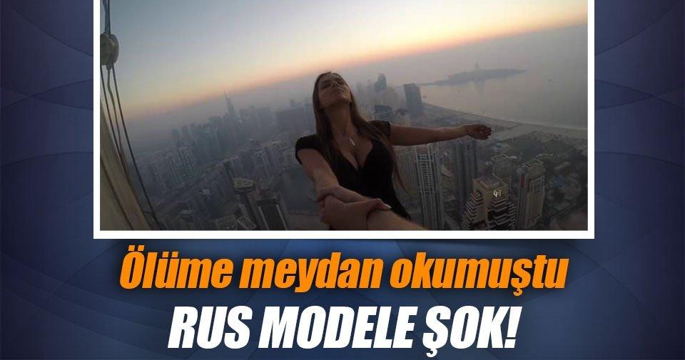 Ölüme meydan okuyan Rus modele şok!