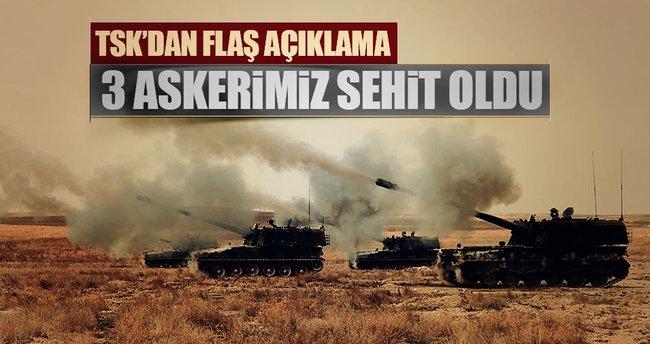 TSK'dan flaş açıklama: 3 askerimiz şehit oldu...