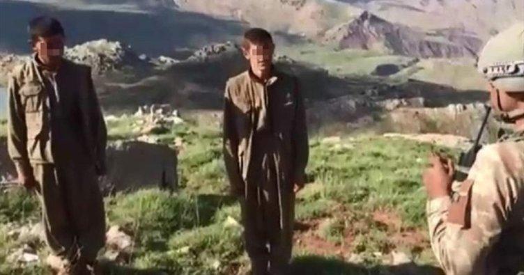 Siirt'te 2 terörist böyle teslim oldu