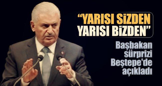 Başbakan sürprizi Beştepe'de açıkladı