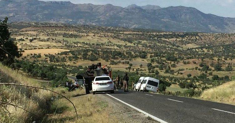Lice'de polis otomobiliyle sivil araç çarpıştı