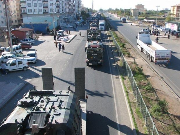 Gaziantep'te askeri sevkiyat