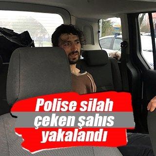 Polise silah çeken şahıs, kovalamaca sonucu yakalandı