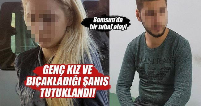Genç kız ve bıçakladığı şahıs tutuklandı