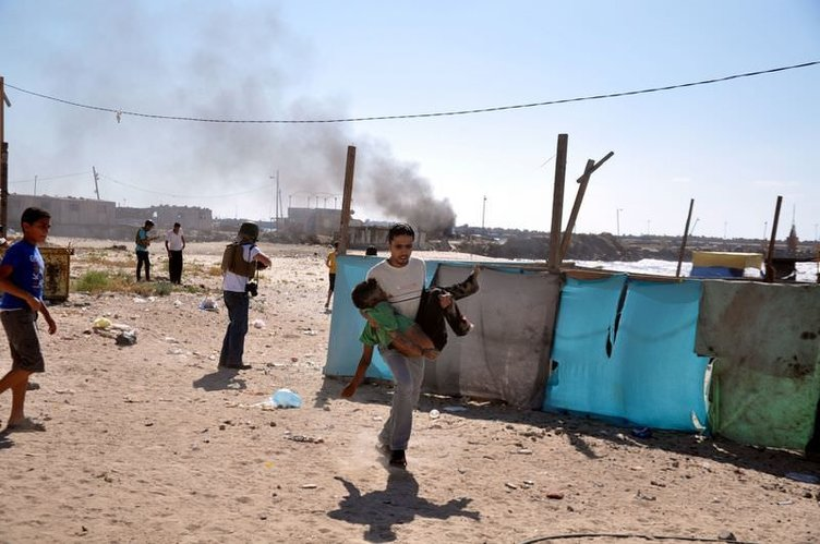 Gazze'den yürek yakan görüntüler