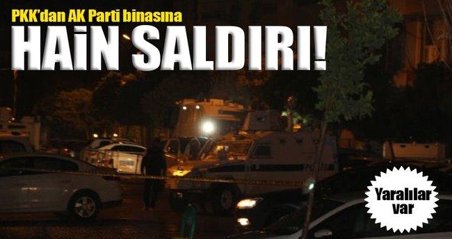 PKK'dan AK Parti binasına hain saldırı!