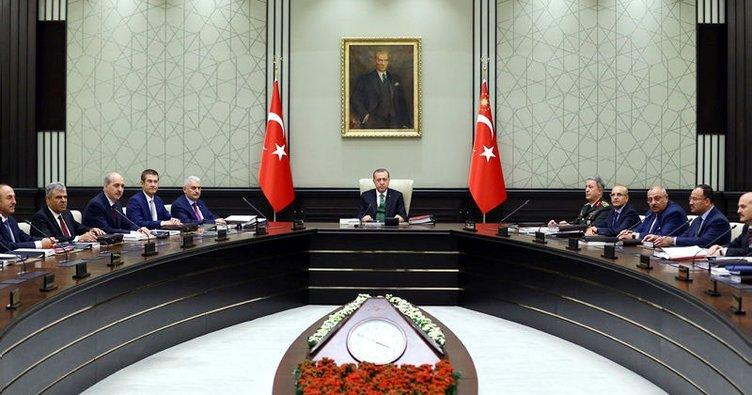 Milli Güvenlik Kurulu, Cumhurbaşkanlığı Sarayı'nda toplandı