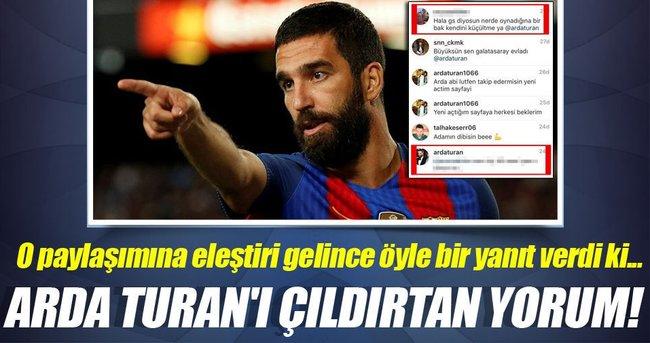 Arda Turan, Instagram takipçisine sert çıktı!