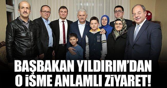 BAŞBAKAN YILDIRIM, 15 TEMMUZ GAZİSİ KOCABAŞ'I ZİYARET ETTİ!