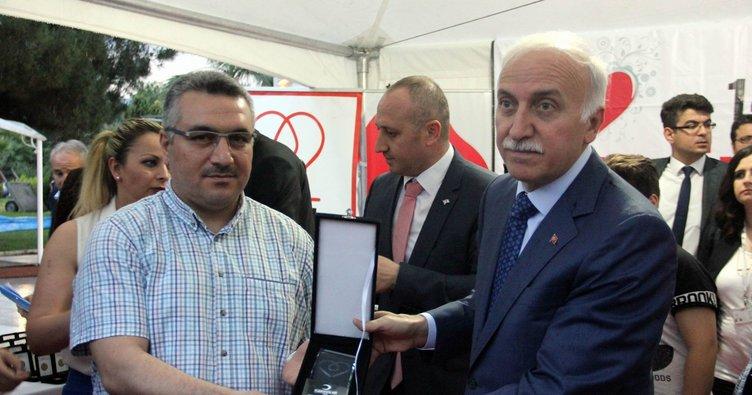 Samsun'da kan bağışçıları ödüllendirildi