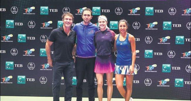 Tenisin yıldızları Ankara'da buluştu
