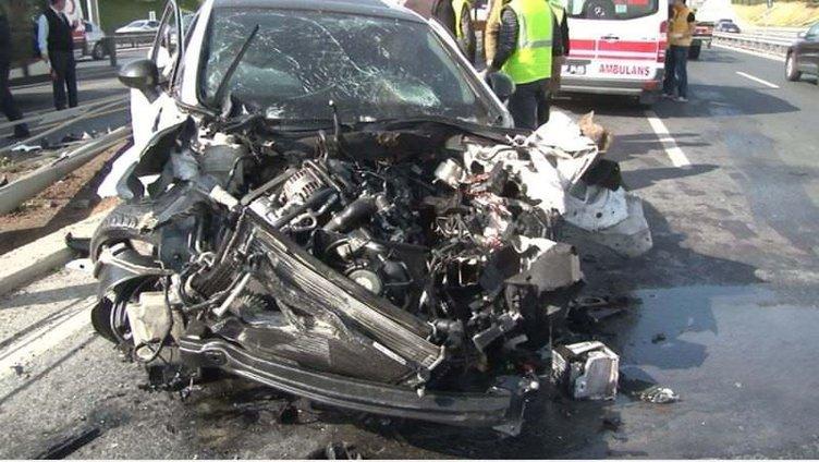 E-5'teki kaza trafiği felç etti