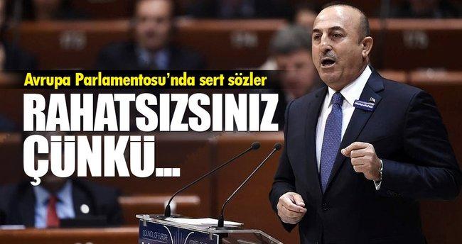 Bakan Çavuşoğlu Avrupa Parlamentosunda FETÖ'yü anlattı