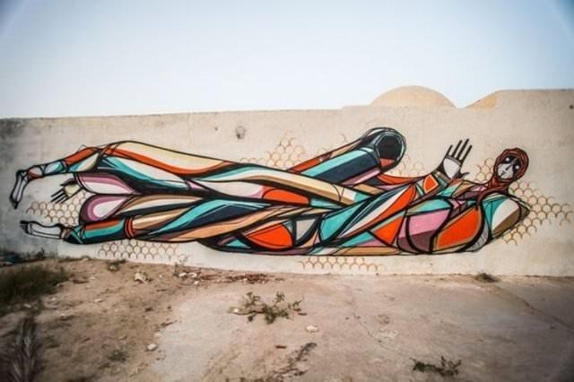 150 sanatçı o adayı boyadı!