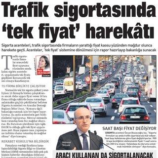 Trafik sigortasında 'tek fiyat' harekâtı