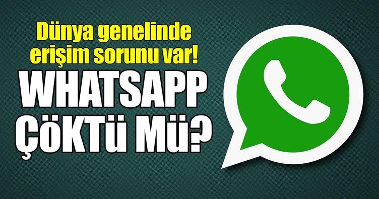 WhatsApp'ta iletişim koptu! WhatsApp'a neden erişilemiyor?