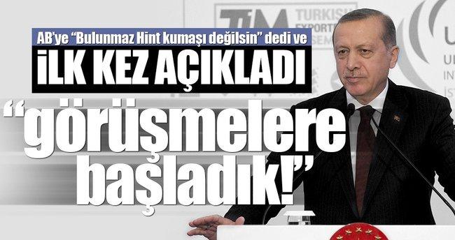 Cumhurbaşkanı Erdoğan: Alternatiflerle görüşmelere başladık