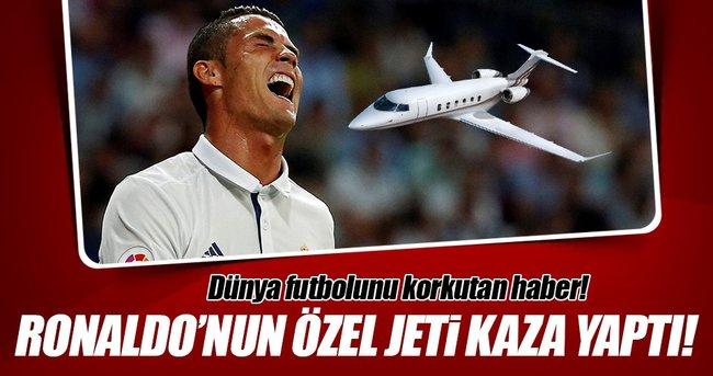 Ronaldo'nun jeti kaza yaptı!