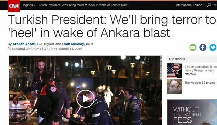 Dış basında Ankara saldırısına tepkiler