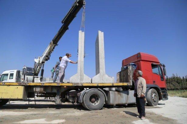 Suriye sınırına 3 metrelik beton duvar