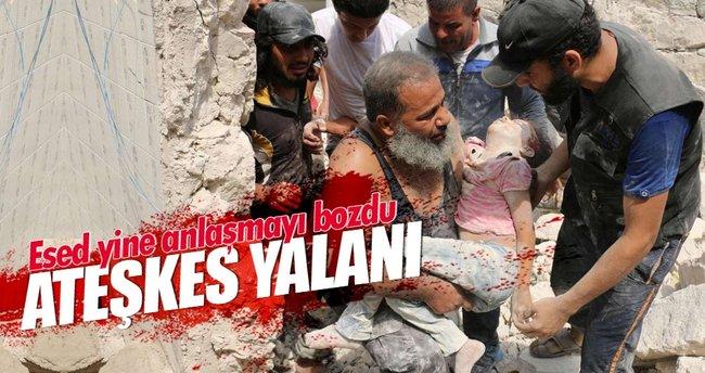 Esed anlaşmayı yine bozdu! Halep'te 2 çocuk vuruldu