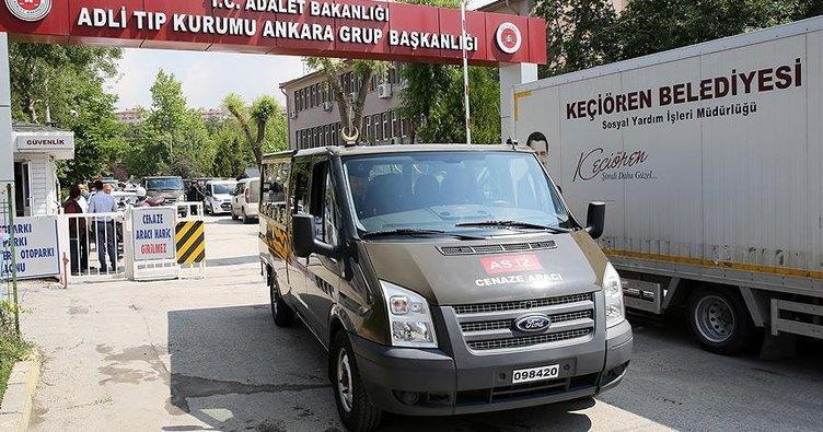 Şırnak'ta şehit düşen 6 askerin cenazesi Ankara Adli Tıp Kurumunda