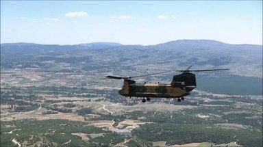 TSK yeni helikopteri CH-47'nin görüntülerini sosyal medya hesabından yayınladı