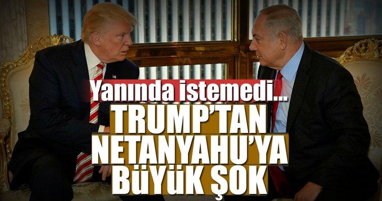 Trump'tan Netanyahu'ya büyük şok