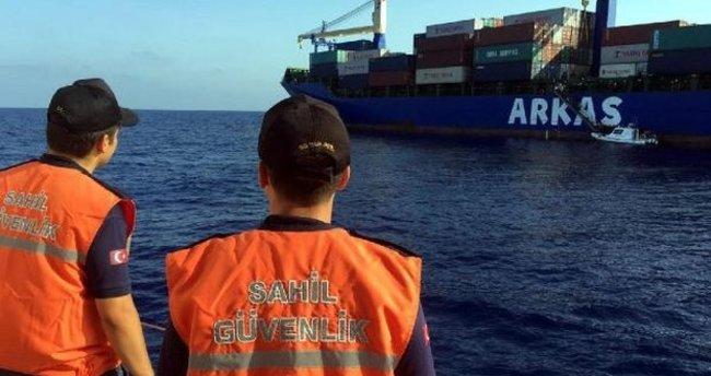 Alanya'da batan kuru yük gemisinin mürettebatı kurtarıldı
