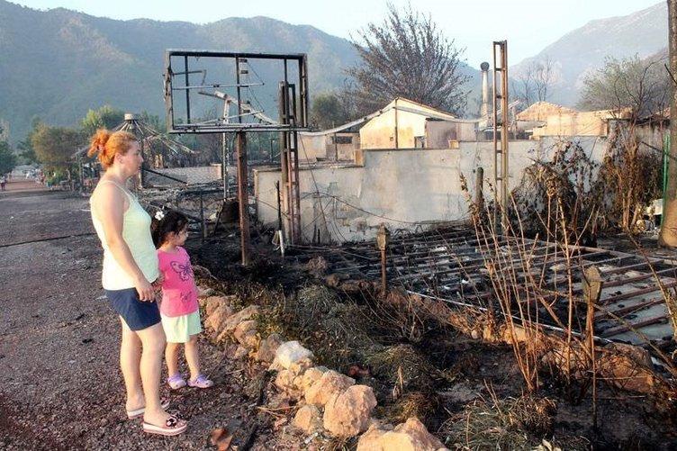 Antalya'da korkutan orman yangını