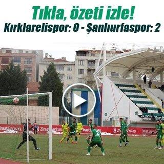Maç Sonucu: Kırklarelispor 0-2 Şanlıurfaspor