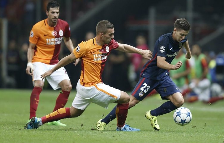 Galatasaray-Atletico Madrid maçından kareler