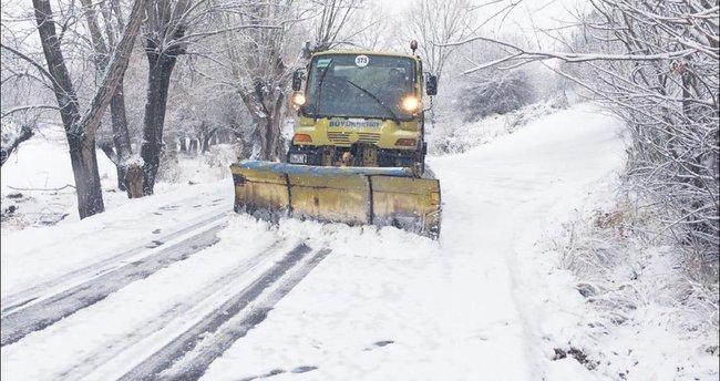 Başkentte kar nöbeti başladı