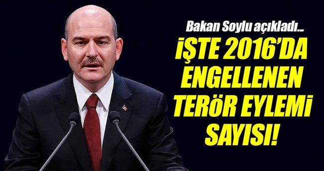 İşte 2016'da engellenen terör eylemi sayısı!
