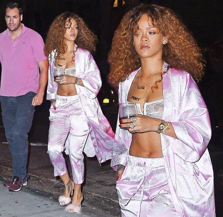 Rihanna iç çamaşırlarıyla sokağa çıktı