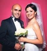 Alper Kul ile Aylin Kontente evlendi