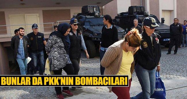 İzmir'e bombalı saldırı için gelen terörist ile yardım eden 14 kişi adliyede