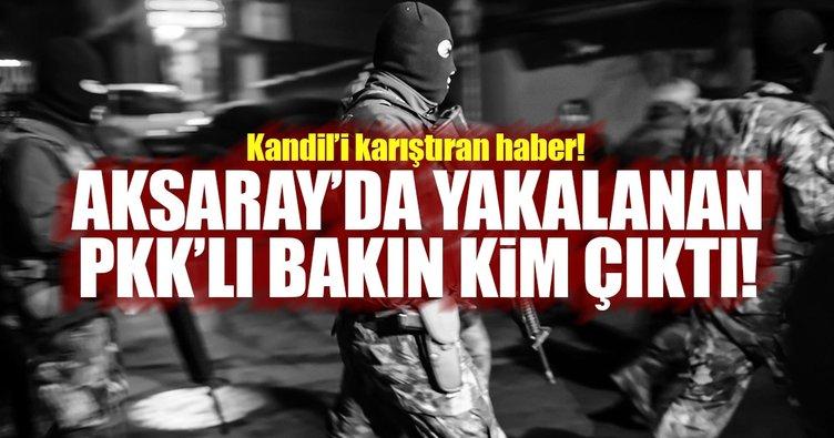 Aksaray'da yakalanan terörist, PKK'nın silah taşıyıcısı çıktı!