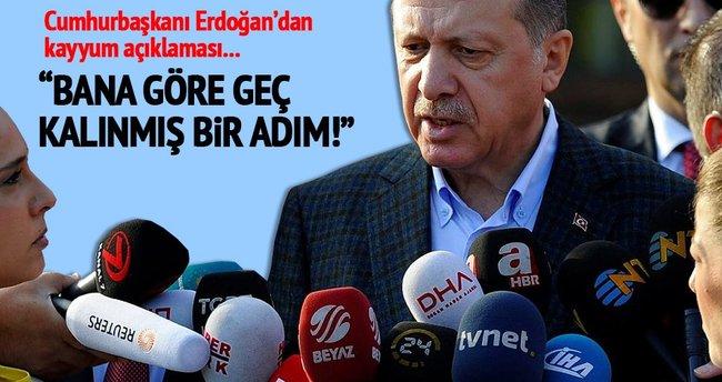 Cumhurbaşkanı Erdoğan bayram namazı sonrası açıklamalarda bulundu