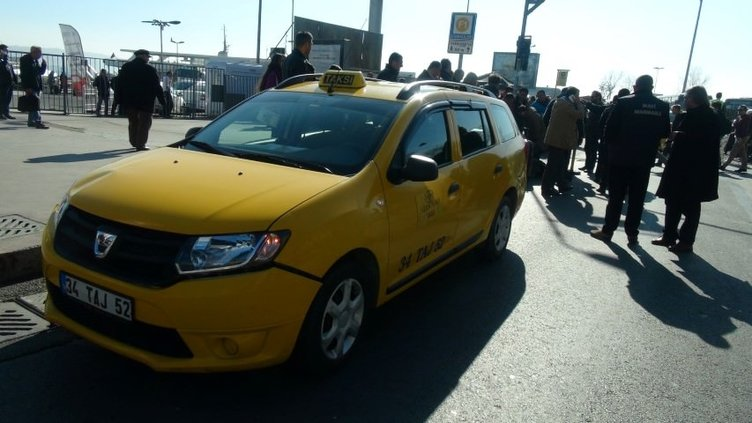 Kabataş'ta taksici dehşeti