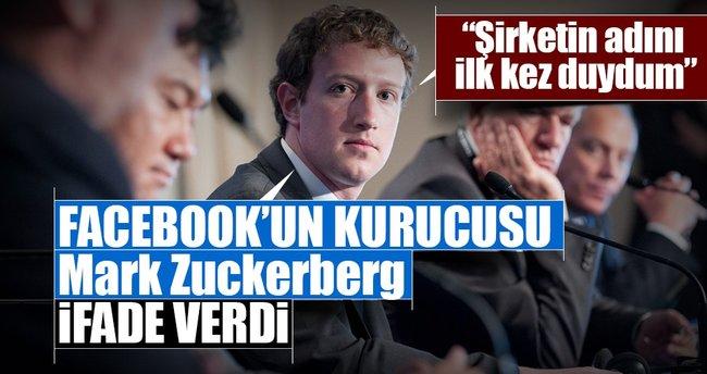 Facebook'un kurucusu Mark Zuckerberg ifade verdi