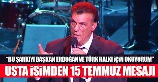 Robert Davi'den Erdoğan ve Türk halkına 'My Way'