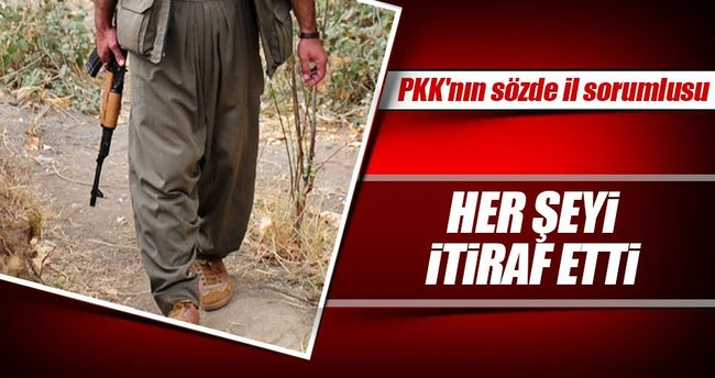 PKK'nın sözde il sorumlusu hain itiraf etti