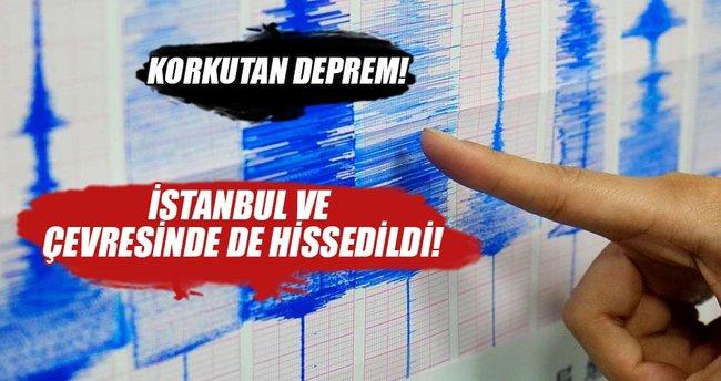 Karadeniz açıklarında deprem