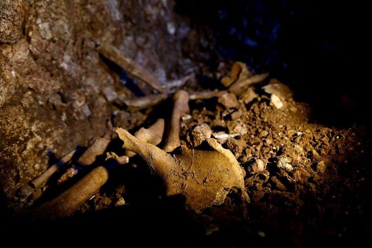 Diyarbakır'daki mağarada kafatası ve kemik bulundu