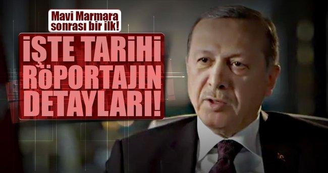 İşte Cumhurbaşkanı Erdoğan'ın İsrail televizyonuna verdiği röportaj!