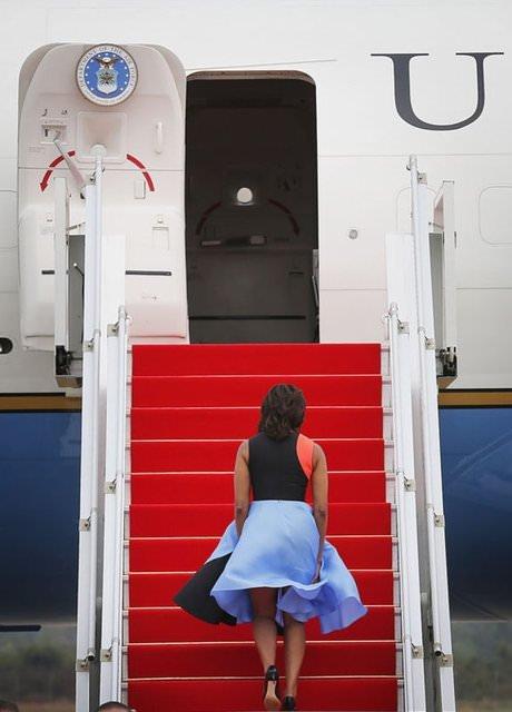 First lady rüzgarın kurbanı oldu