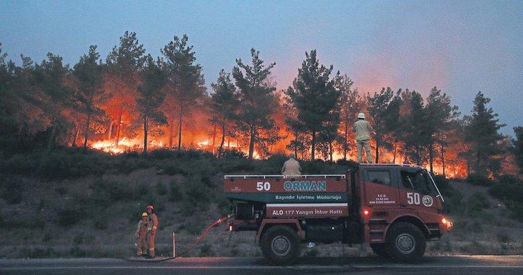 Menderes'te 500 hektar kül oldu